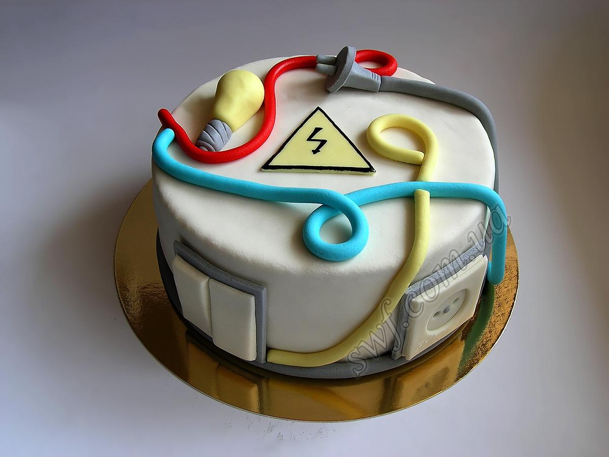 Торт для электрика своими руками 26