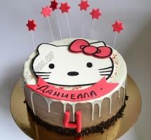 торт мастичный для детей Китти