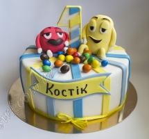 торт мастичный для детей M&M's