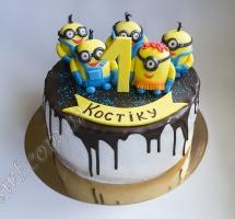 торт мастичный для детей миньоны