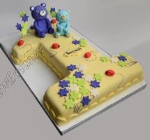 торт мастичный для детей единичка