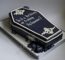 мастичный торт гробик