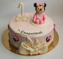 торт мастичный для детей Минни Маус