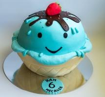 мастичный торт кексик