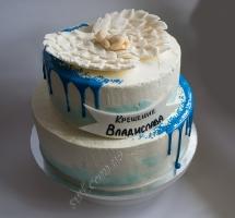 кремовый торт крещение