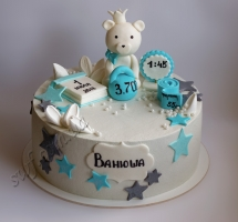 кремовый торт новорожденный