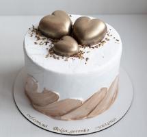 торт с сердечками