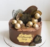 Тортик c шоколадным твистом, орео и шарами