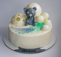 муссовый торт с шоколадными шариками