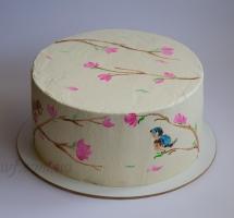 торт кремовый рисованный