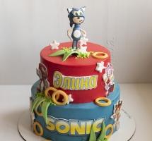 """Кремовый торт """"Sonic"""""""