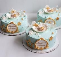 три торта на крещение