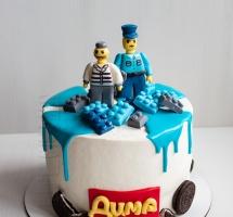 кремовый торт Lego