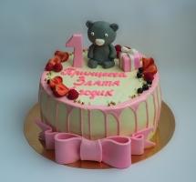 торт мастичный для детей мишка