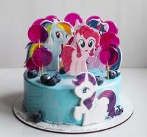 """муссовый торт """"радужные пони"""""""