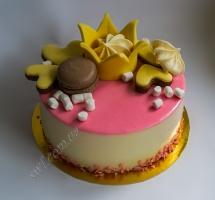 муссовый торт с имбирными пряниками
