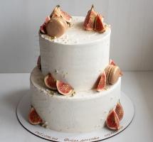 кремовый торт с инжиром и макароном