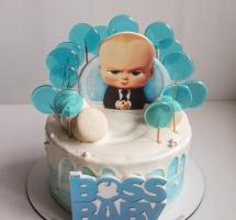 """кремовый торт с леденцами """"Baby boss"""""""