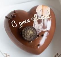 Муссовый торт в виде сердца