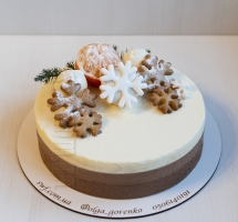 муссовый новогодний торт