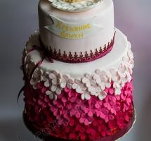 торт двухъярусный на крещение
