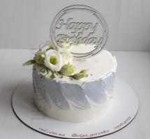 кремовый торт с аустомой