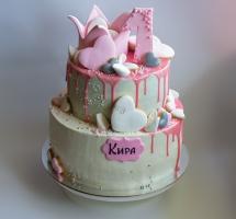 торт кремовый двухярусный