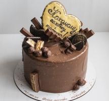 шоколадный торт с пряником