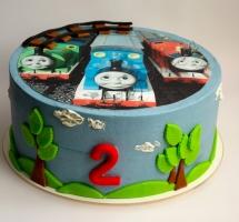 """кремовый торт """"Паровозик Томас"""""""