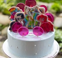 """тортик  с леденцами """"Радужные пони"""""""