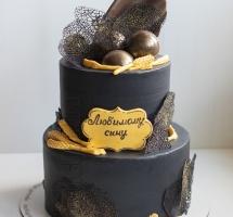 мужской кремовый торт