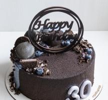 велюровый торт с муссовыми сердечками