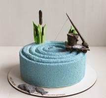 велюровый торт рыбаку