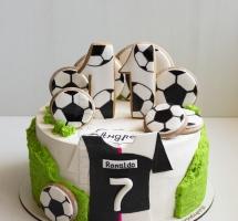 Торт с футболом