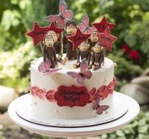 Кремовый торт для бабушки
