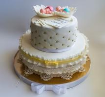 мастичный торт на крещение
