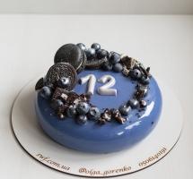 муссовый торт с голубикой