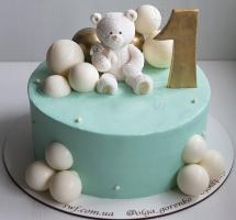 Кремовый торт с мишкой