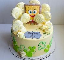 кремовый торт Губка Боб