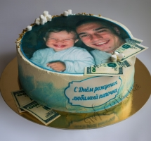 торт кремовый с фото на рисовой бумаге