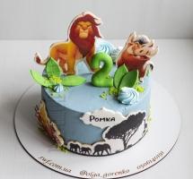"""Кремовый торт """"Король лев"""""""
