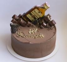 мужской торт с бутылочкой