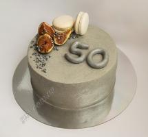 кремовый торт с инжиром и макарунами