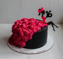 "торт девушке ""16 лет"""