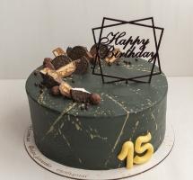 """кремовый торт """"15 лет"""""""