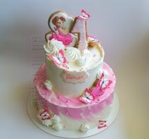 Кремовый торт маленькой принцессе