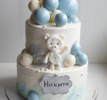 """торт с шарами """"Плюшевый мишка"""""""