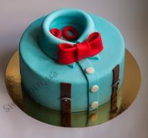 торт мастичный воротник с бабочкой