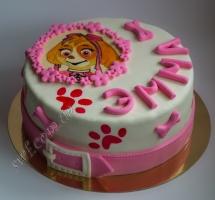 торт мастичный для детей собачий патруль