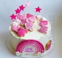 Кремовый торт Baby Shower